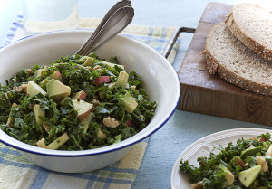 Kale Salad with Apples and Walnuts | Joy of Yum