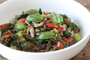 Joy of Yum   Mushroom, Greens and Rice