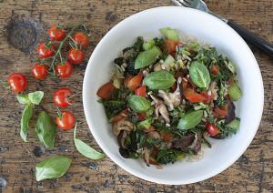 Joy of Yum | Shitake, greens and rice