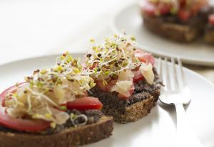 Black Lentil Pate Sandwich | Joy of Yum