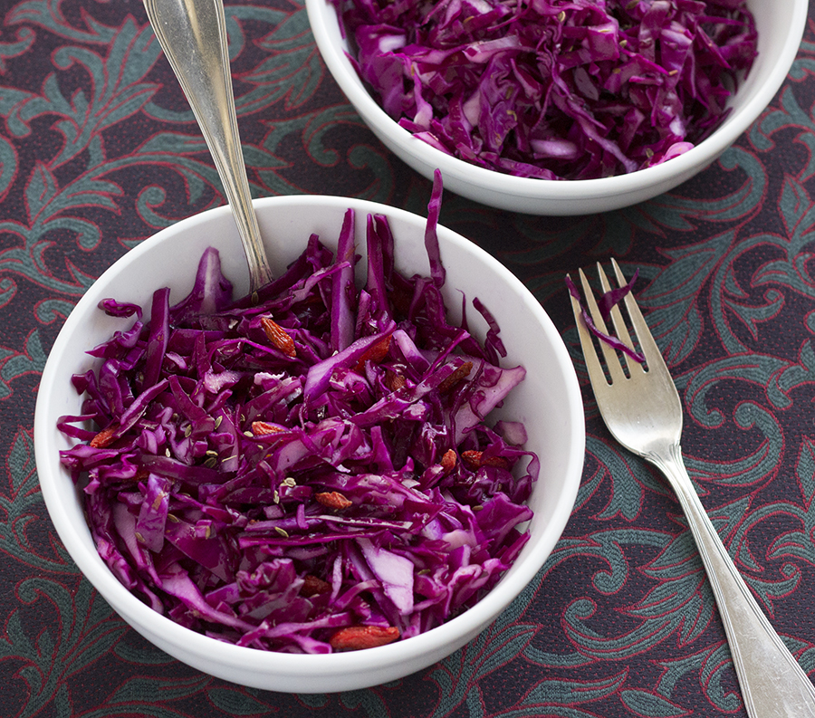 Red Cabbage Salad with Goji Berries | Joy of Yum