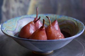 Pears in Red Wine & Orange | Joy of Yum