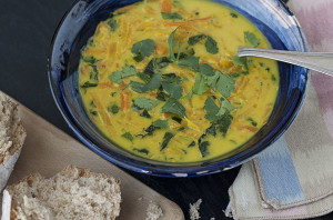 Carrot and Kale Comfort Soup | Joy of Yum