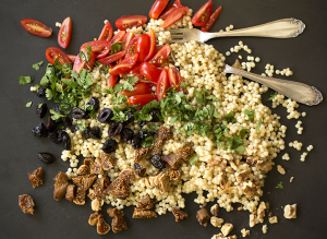 Israeli Couscous with Figs and Olives | Joy of Yum