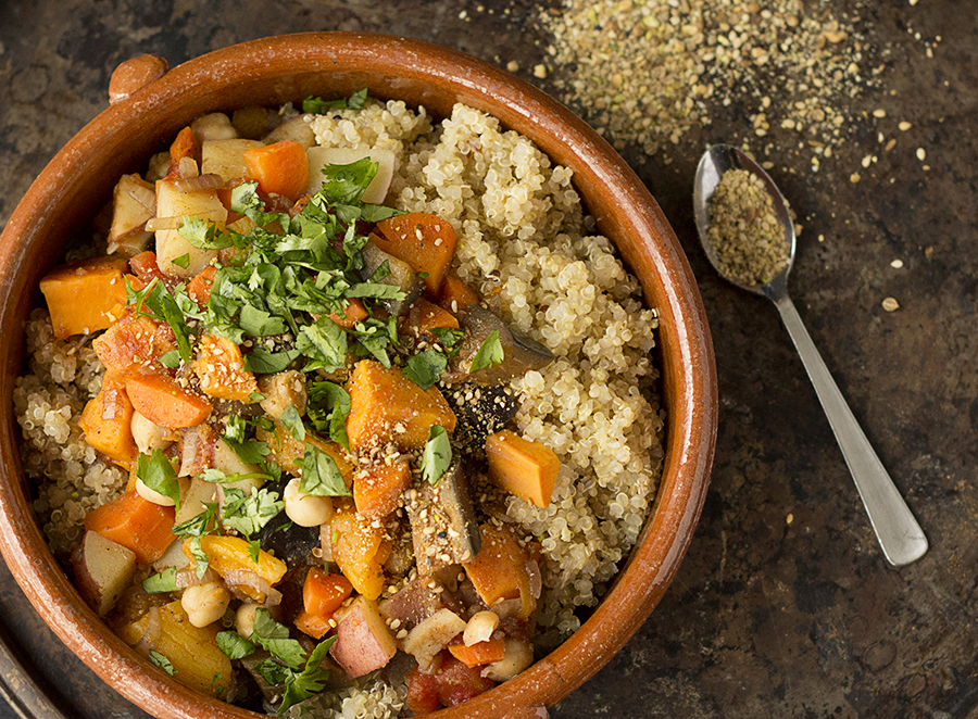 Fragrant Moroccan Vegetable Stew with Dukka | Joy of Yum