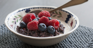 Black Rice Pudding with Fruit | Joy of Yum