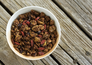 Joy of Yum | Double Chocolate Granola in Bowl