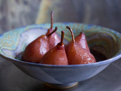 Pears in Red Wine & Orange | Joy of Yum