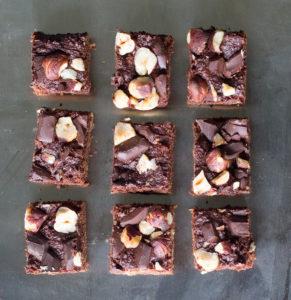 Dark Chocolate and Hazelnut Bites from above | Joy of Yum